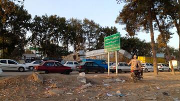 سقوط پل عابر پیاده در استان گلستان / عکس