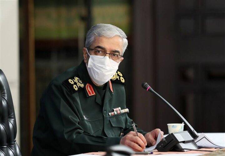 هشدار سرلشکر باقری به تروریستهای ضدانقلاب / فیلم