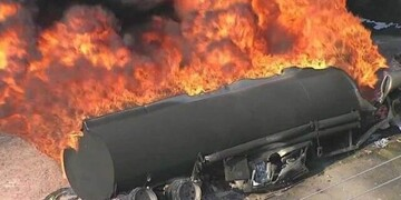 لحظه انفجار وحشتناک تانکر سوخت در الیگودرز / فیلم