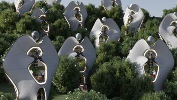 ساخت خانه با اسکلت بیرونی فولادی با چاپ سهبعدی! / عکس