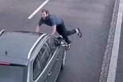 خودکشی عجیب یک مرد در خیابان! / فیلم