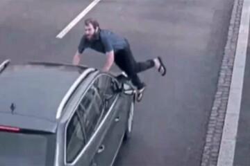 خودکشی عجیب و ناموفق یک مرد در خیابان / فیلم