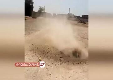 پدیده بسیار  عجیب جوشیدن خاک در روستای هلیله بوشهر! / فیلم