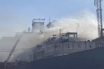 آتشگرفتن یک هتل در کربلا / فیلم