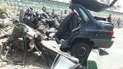 ویدیو دلخراش از نصف شدن خودروی پراید در تصادف مرگبار!