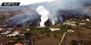 ویدیو جالب از فوران آتشفشان در اسپانیا!