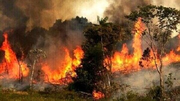 آتشسوزی در سفیدکوه خرمآباد ادامه دارد