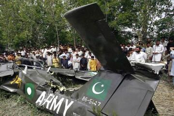 سقوط مرگبار یک جنگنده ارتش پاکستان