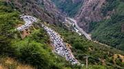 جاده چالوس در سال ۱۳۲۰ / عکس