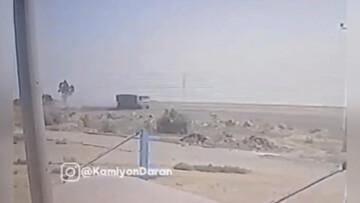 ویدیو هولناک از لحظه واژگونی کامیون در جاده امیدیه به اهواز!