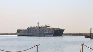 لنگر انداختن کشتی ناوگان پنجم آمریکا در بندر بیروت