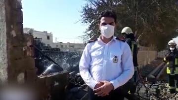 آتش سوزی هولناک کارگاه غیرمجاز شارژ سیلندر گاز در شیراز  / فیلم