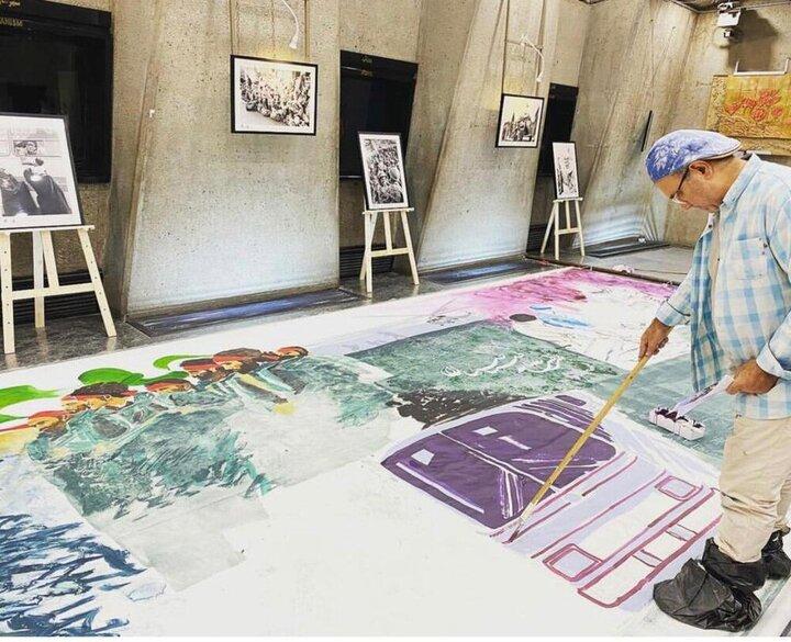 اثر هنری ۶۰ مترمربعی در میدان آزادی نصب میشود