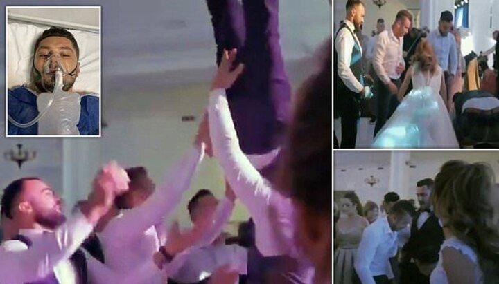 شکستن ستون فقرات داماد در مراسم عروسی توسط دوستان داماد / فیلم