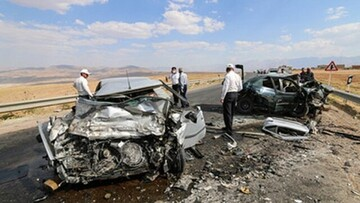 تصادف مرگبار در نهاوند با ۲ کشته