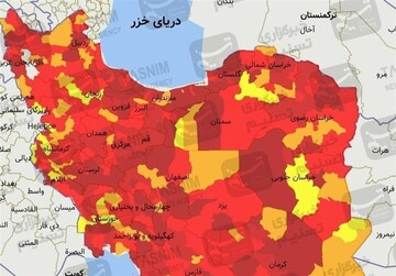 بازگشت ۵ شهر آذربایجان شرقی به وضعیت زرد کرونا