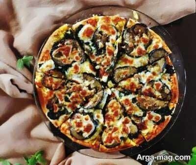 پیتزا بادمجان لذیذ با طعمی فوقالعاده + طرز پخت