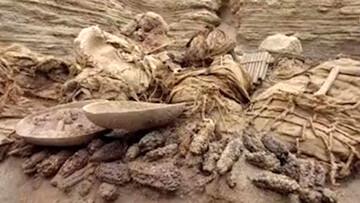 تصاویر دیده نشده از لحظه کشف جسد ۸۰۰ ساله / فیلم