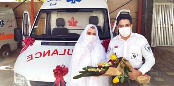 گفتوگوی خواندنی با پرستاری که در آمبولانس ازدواج کردند! / عکس