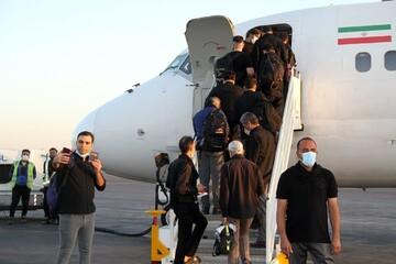 آغاز بازگشت هوایی زائران اربعین از روز دوشنبه