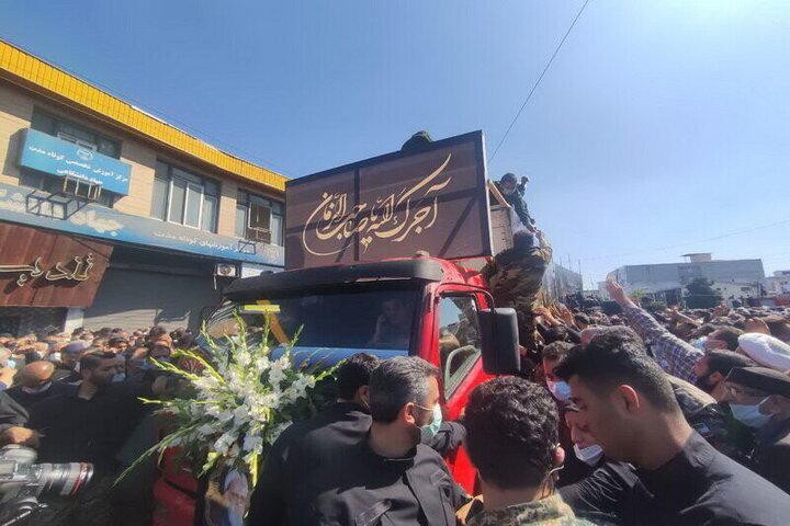 انتقال پیکر علامه حسنزاده آملی با بالگرد به روستای زادگاهش «ایرا»