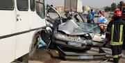 برخورد هولناک ۴ خودرو در اصفهان / ۱۰ نفر مصدوم شدند