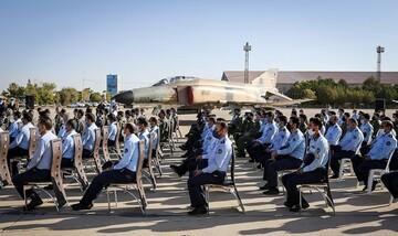 مراسم فارغالتحصیلی خلبانان هواپیماهای شکاری اف ۴ در همدان / تصاویر