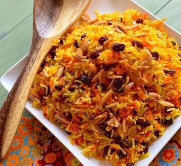 هویج پلو با گوشت؛ مجلسی و خوش طعم + طرز پخت