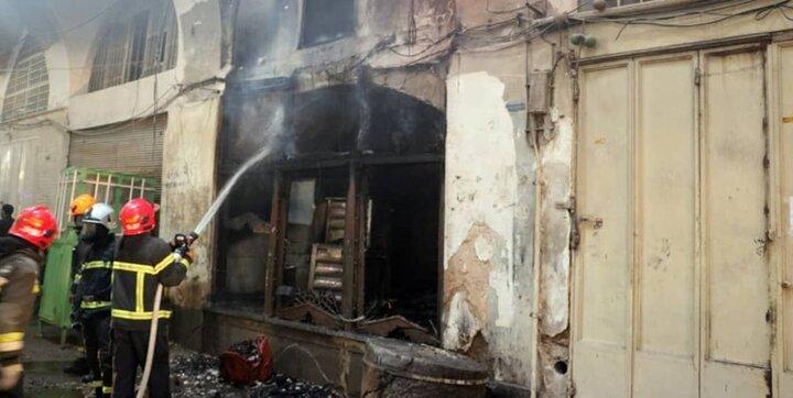 مرگ دردناک کارگر جوان در پی آتشسوزی مغازه اغذیه فروشی