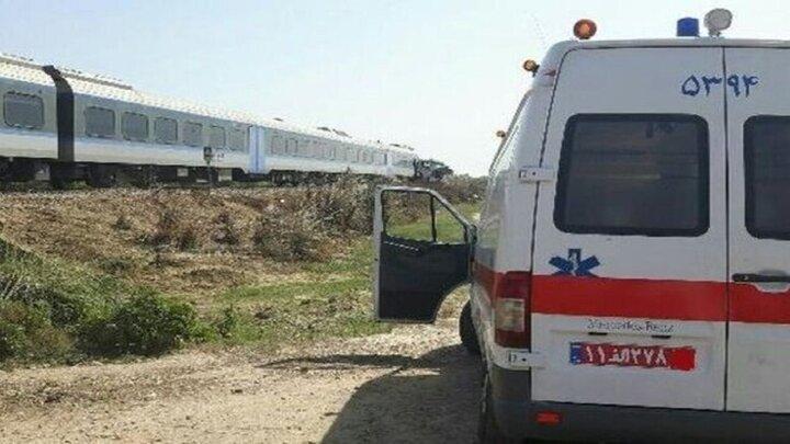 برخورد مرگبار قطار با عابر در قائمشهر