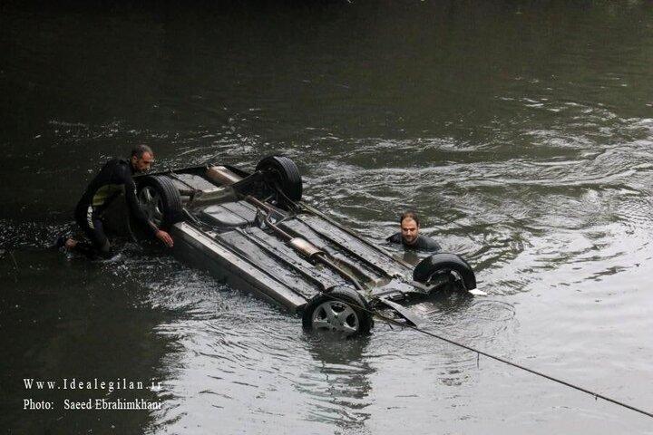 ویدیو دلخراش از مرگ همزمان زن و شوهر گیلانی در آغوش یکدیگر درون رودخانه / عکس و فیلم