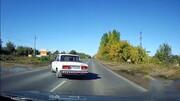 ویدیو دلخراش از تصادف مرگبار موتورسیکلت با خودرو؛ پرتاب موتورسوار به آسمان!