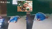 تصاویری دلخراش از لحظه مرگ جوان در سجده نماز / فیلم