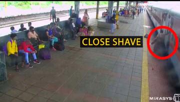 نجات معجزهآسای زن از خطر مرگ با قطار توسط مامور راهآهن / فیلم