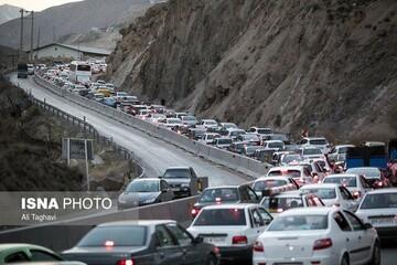 بسته شدن جاده چالوس از سمت کرج در روز جمعه ۱۶ مهر