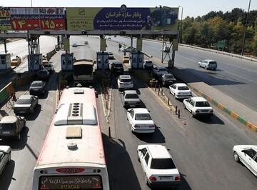 ترافیک نیمهسنگین در خروجیهای مشهد