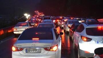 ترافیک سنگین شبانگاهی در خروجی محورهای هراز و کندوان