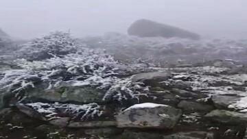 اولین برف پاییزی رامسر را سفید پوش کرد / فیلم