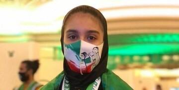 لحظه مهار وزنه ٩۴ کیلوگرمی توسط وزنهبردار زن ایرانی / فیلم