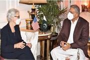 دیدار وندی شرمن با رییس ستاد ارتش پاکستان