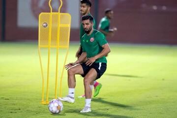 حضور فرشید اسماعیلی در تمرینات تیم جدیدش / عکس