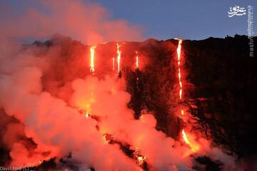 ویدیو  هولناک از حرکت گدازههای آتشفشانی!