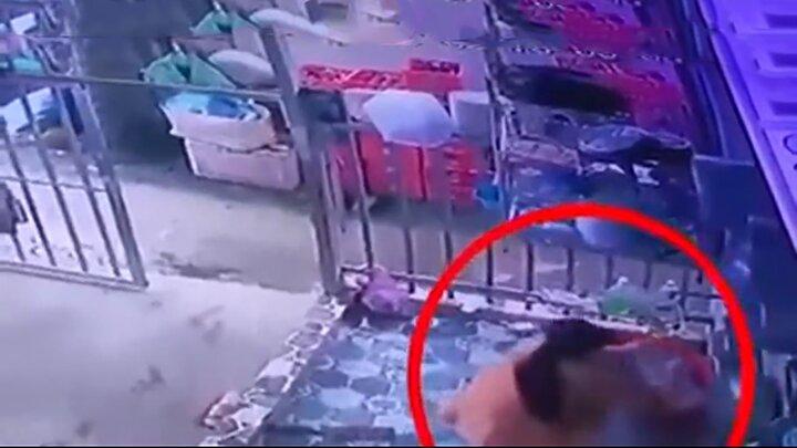 فرار خندهدار متهم زن از دست مامور پلیس / فیلم