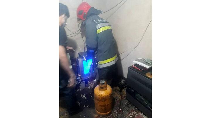 انفجار هولناک در اصفهان / یک نگهبان زنده زنده سوخت /عکس