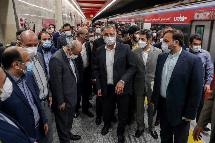 افتتاح ایستگاه شهید رضایی در خط ۶ مترو تهران / تصاویر