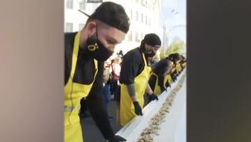 طبخ بزرگترین ساندویچ شاورمای جهان به طول ۱۲۹ متر / فیلم