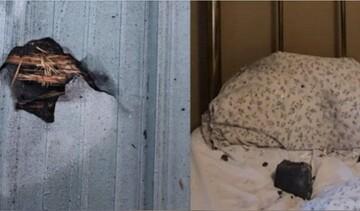 برخورد عجیب شهابسنگ به تختخواب زن کانادایی / عکس