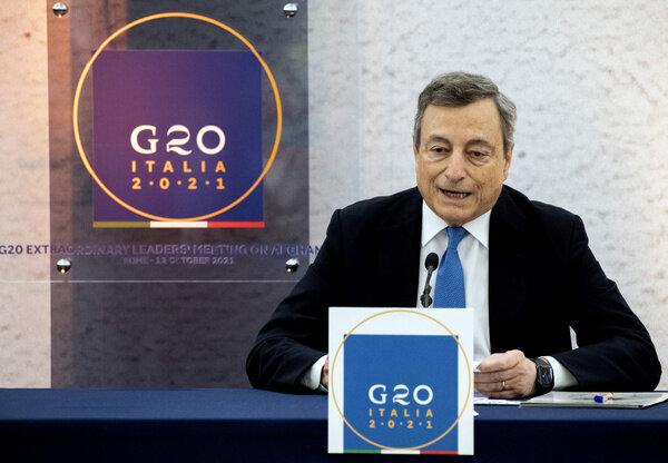 رهبران گروه ۲۰ برای کمکهای انسانی به افغانستان توافق کردند