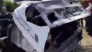 سمند در این تصادف ۶۰ متر پرواز کرد! / فیلم