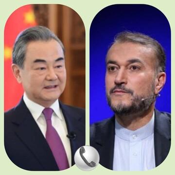 گفتگوی تلفنی امیرعبداللهیان با وزیرخارجه چین / سخنان مهم درباره قرداد ۲۵ ساله و واکسن کرونا مطرح شد
